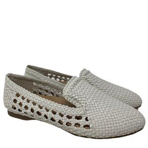 Birdies White Woven Starling Flats Loafers Size 5